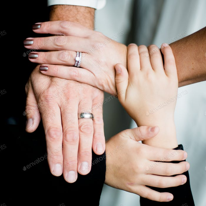 Vow renewal for a family of four