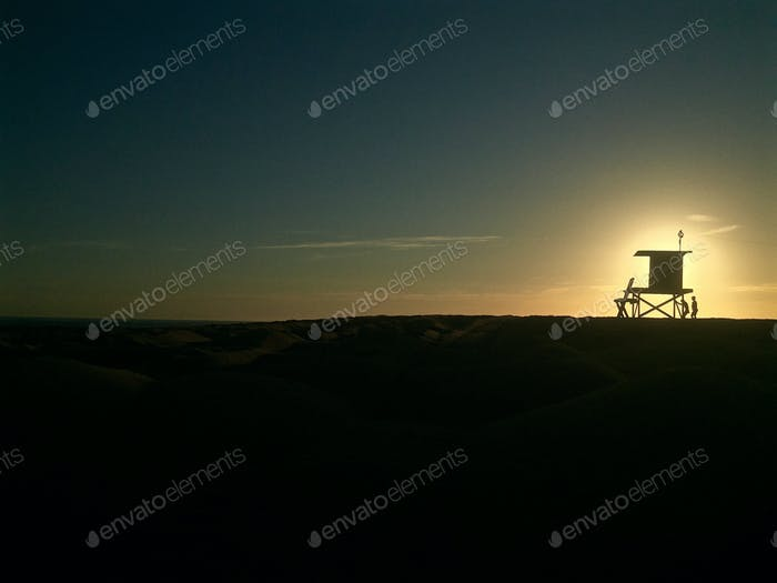 A beautiful twilight in Newport Beach, California.