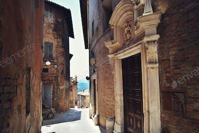 Italian street - Urbino, Italy