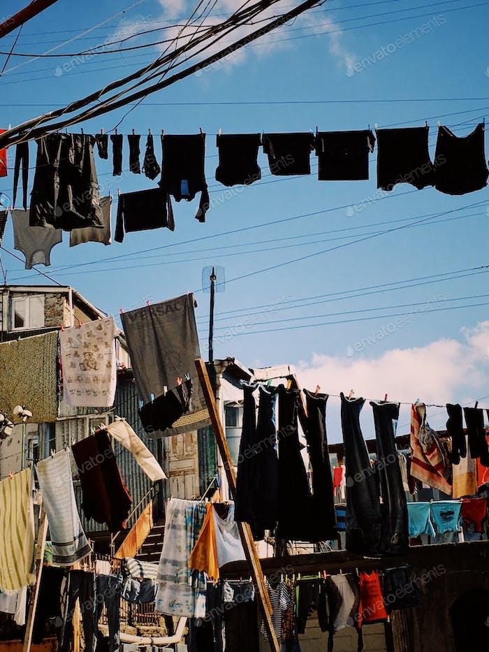 Batumi, Adjara, Georgia. Doing laundry.