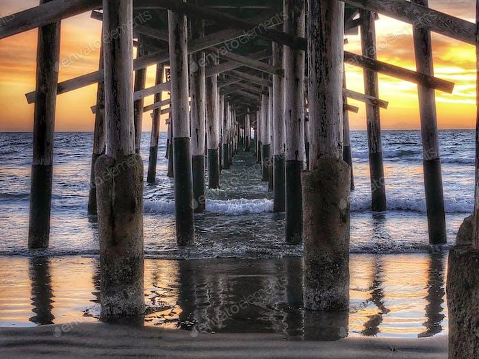 Nature's after sunset show. Newport Beach, CA