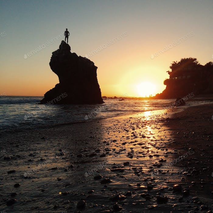 A shot from El Matador beach in Malibu.