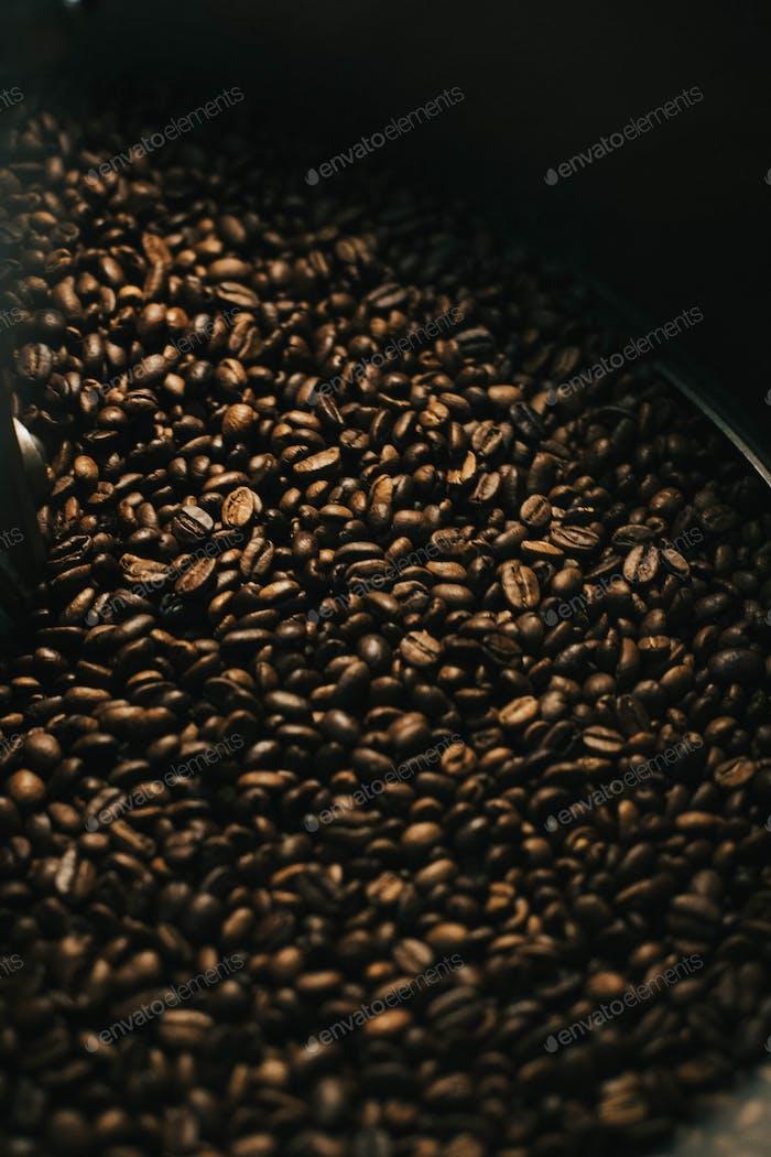 Granos de  café. Café. Marrón