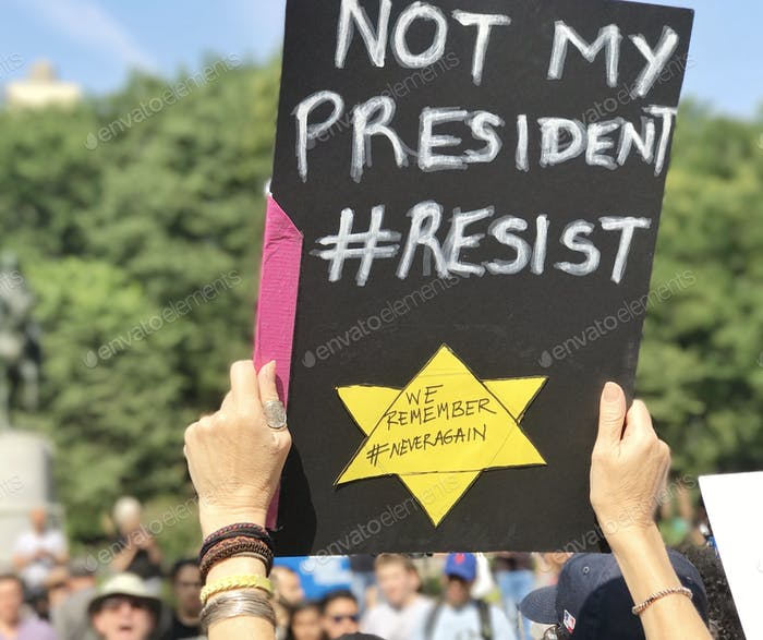 Activism Free speech Political Power Democracy Rally Not my president sign Protest Protesters Poster