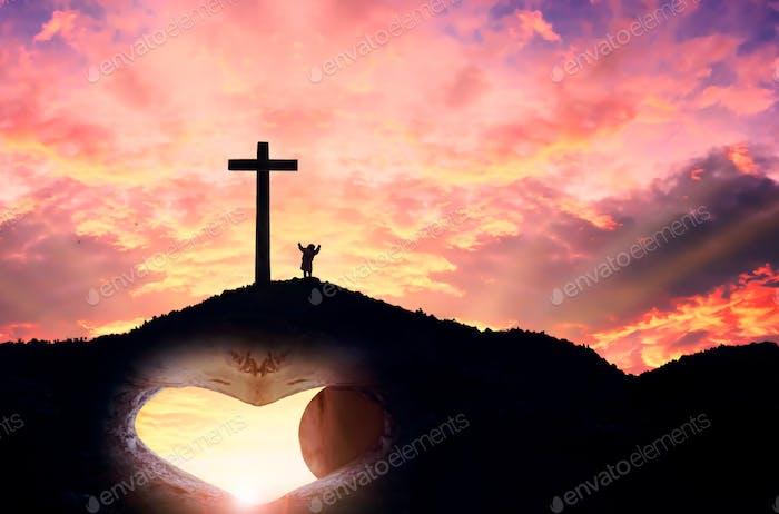 Das Kreuz Symbol der Christen und Jesus Christus