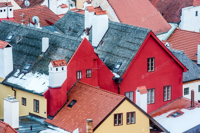 Old city in the South Bohemian Region of the Czech Republic where Cesky Krumlov Castle is located