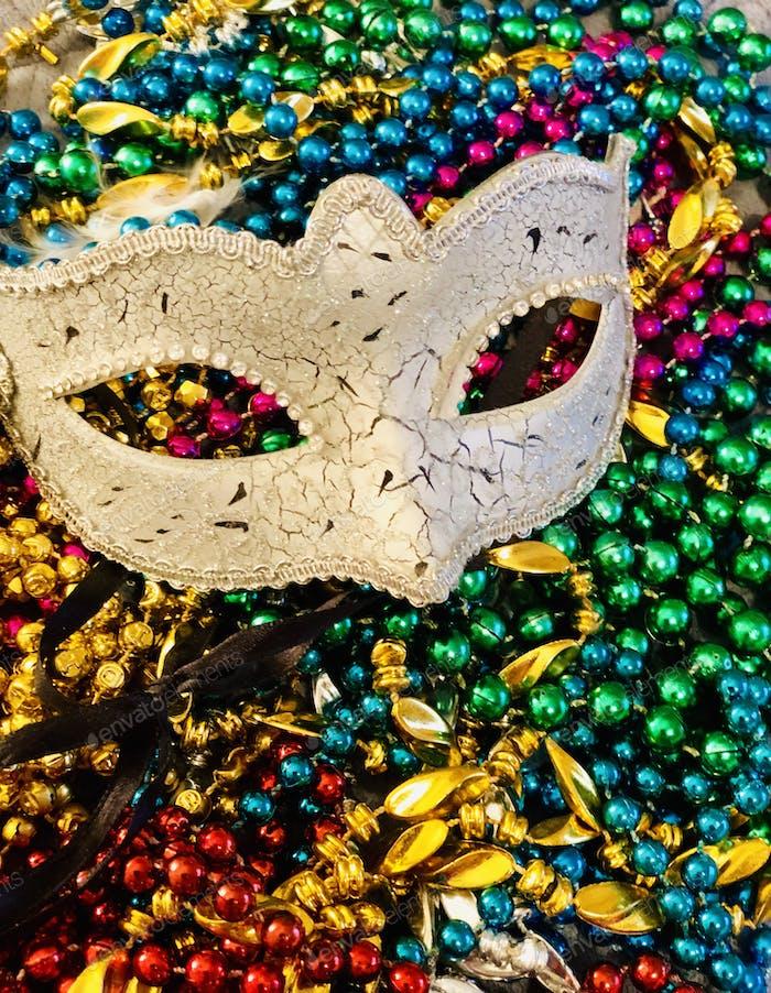 Mardi gras, Beautiful and colorful,  Mardi Gras mask and colorful beards