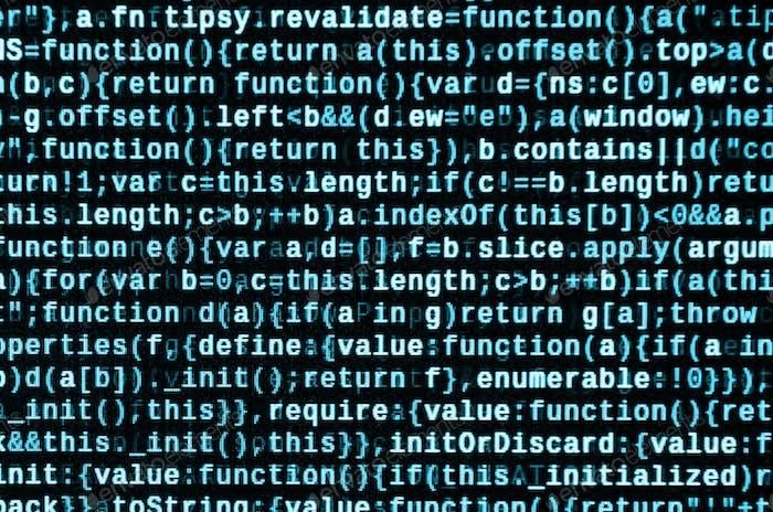 Escribir código de programación en el portátil
