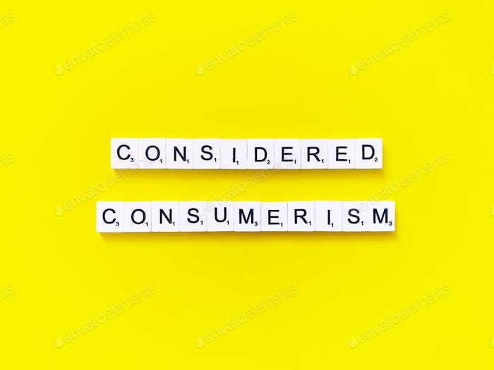 Considered Consumerism