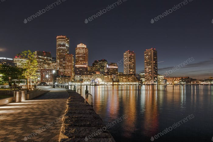 Rowes Wharf is a modern development in downtown Boston, Massachusetts