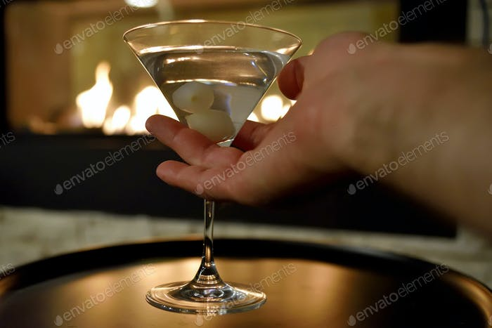 Martini by the fire