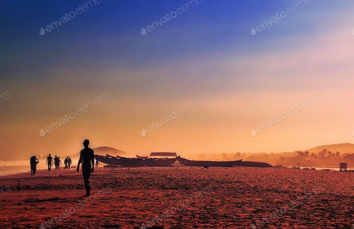 Ghana puesta de sol
