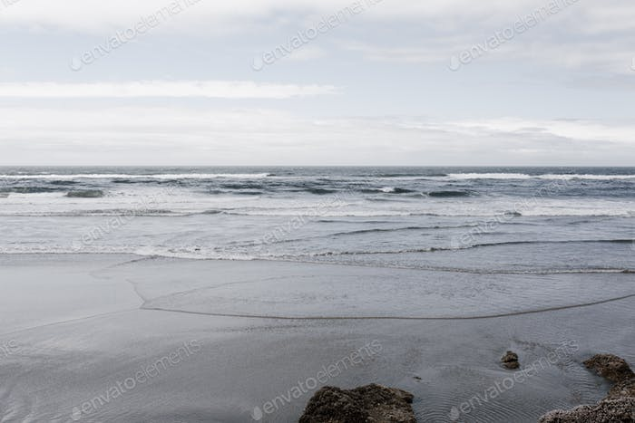 The Pacific Ocean on a cloudy day