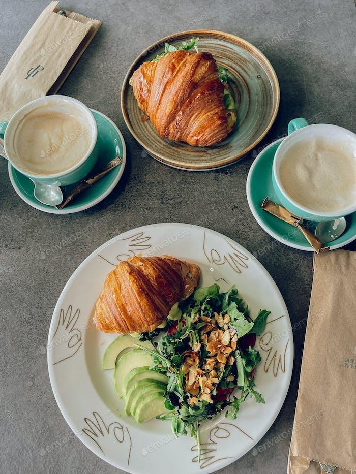 Tasty breakfast for two