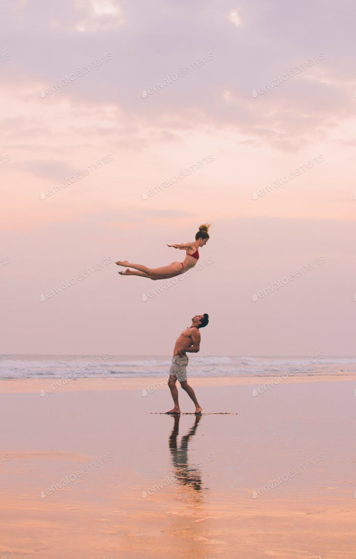 Acro Yoga Couple