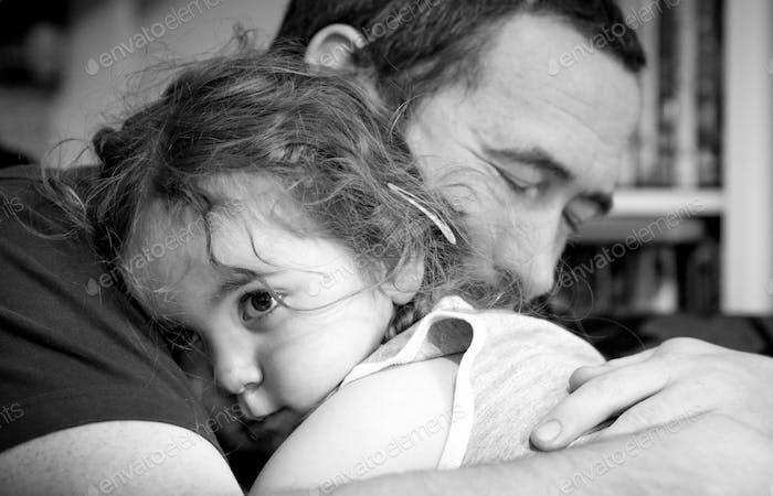 Comforting hug