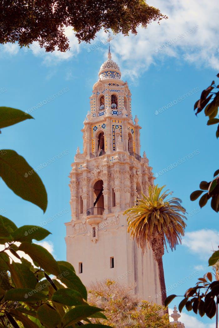 Historical and iconic landmark in Balboa Park, San Diego California