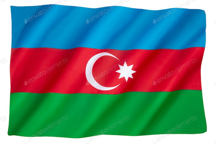 The national flag of the Republic of Azerbaijan
