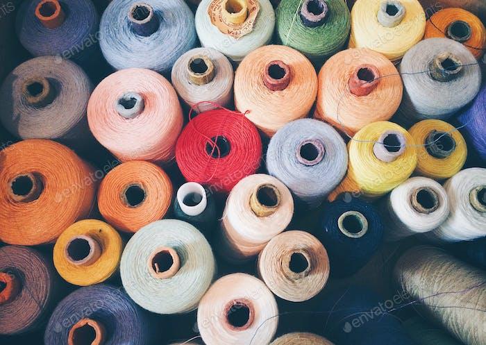 Spool of thread. Thread. Background