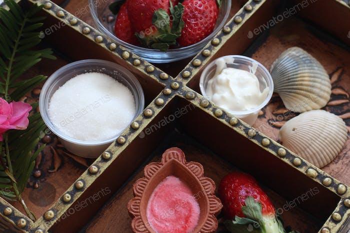 Erdbeer-Peeling