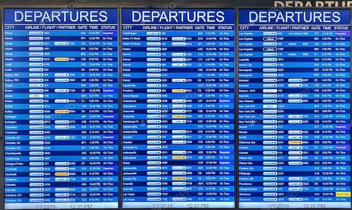 Airport Flight Departure Schedule