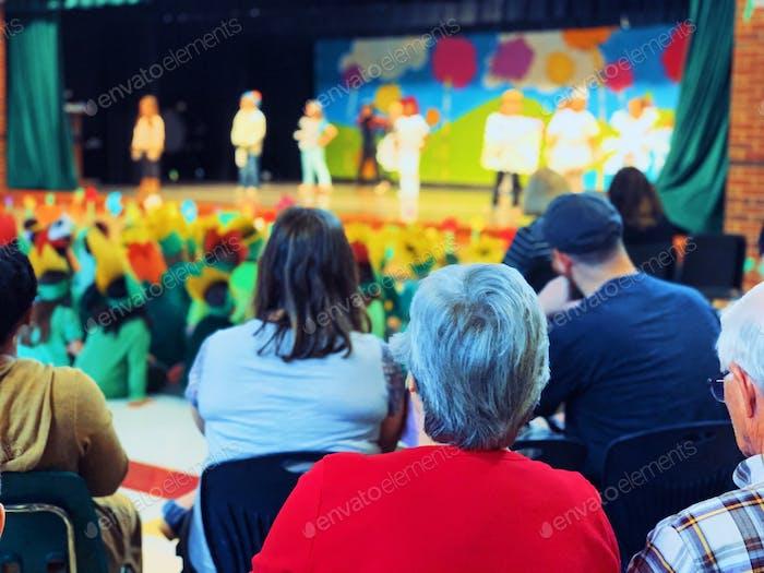 Kids performing at school