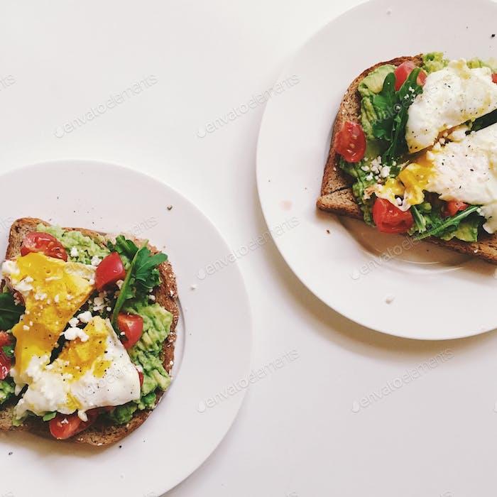 Avocado toast for breakfast.