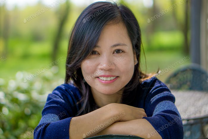 Asian woman head shot
