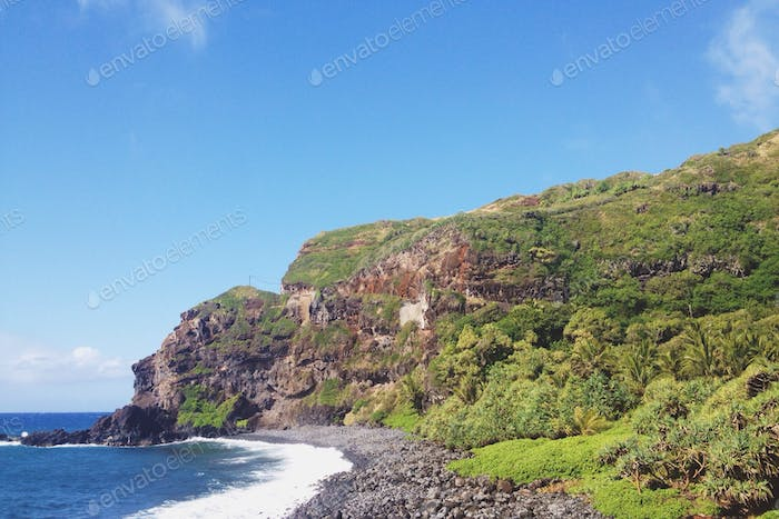 A cliff in Maui