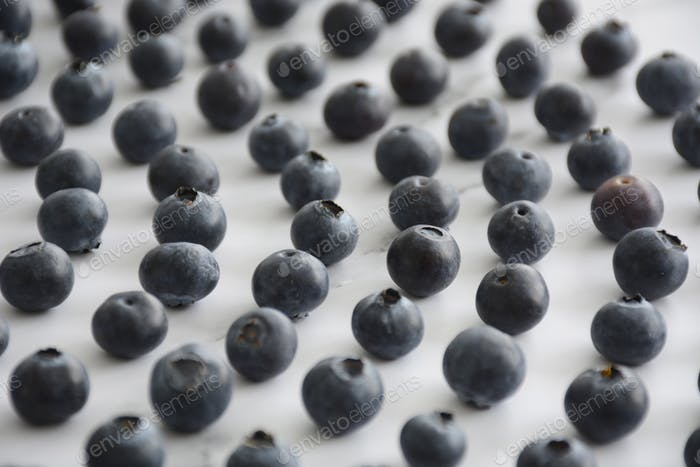 Healthy blueberries antioxidant superfood on white marble background.   * Nominated! *