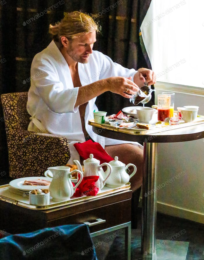 Treat yourself with an amazing hotel breakfast after a cozy bubble bath