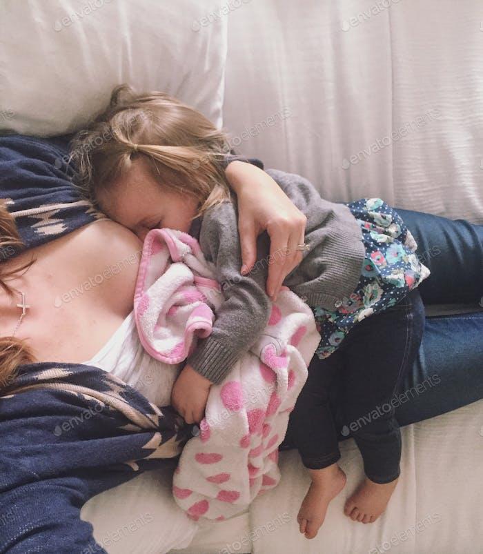 Cuddling.