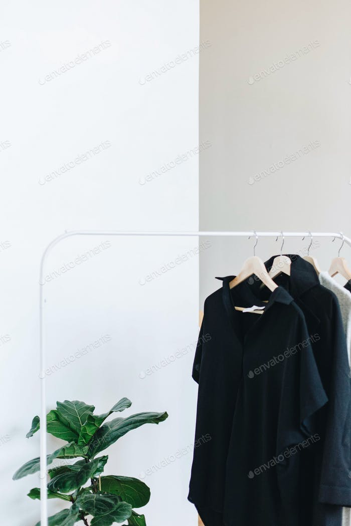 Modern, minimal wardrobe - capsule wardrobe.