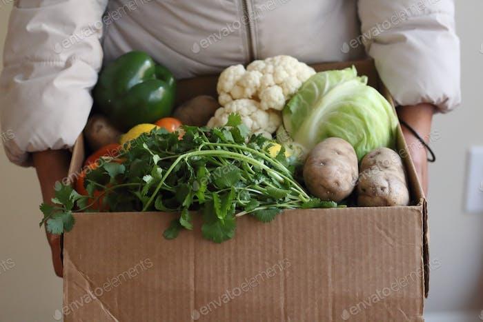 Boxed vegetables delivered