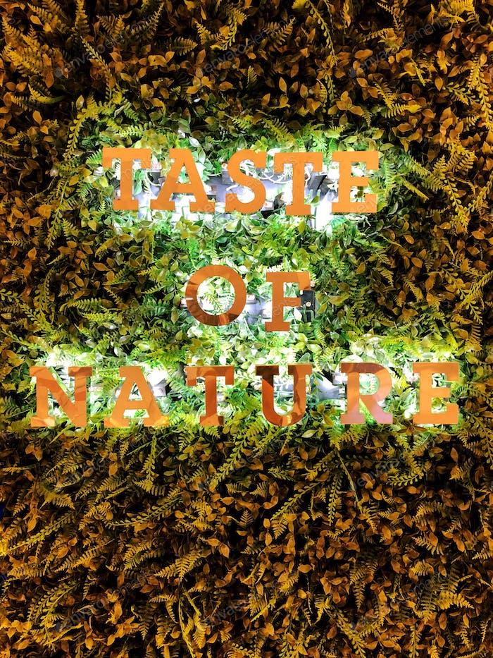 Der Geschmack der Natur