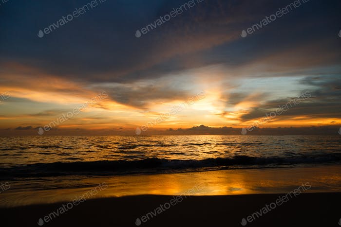 Sunset, sea, cloudscape