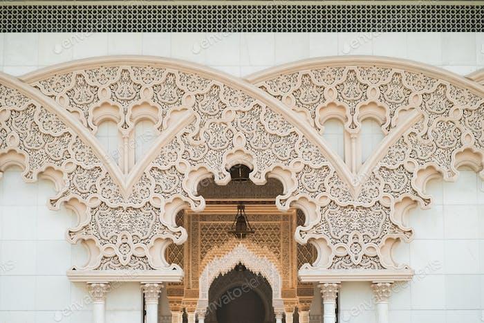 morrocoan architecture details on the enterance. islamic, arabian design