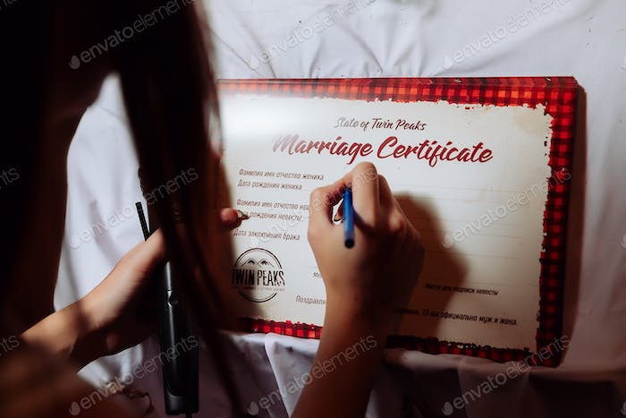 halloween wedding certificate