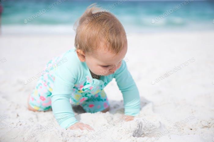 Happy beach baby