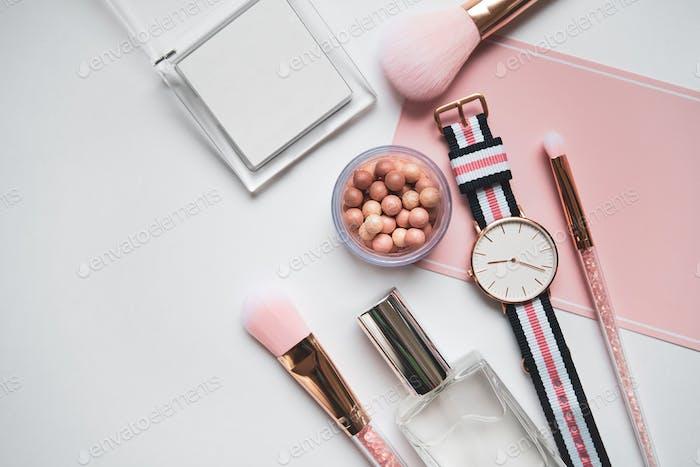 Layout of cosmetics
