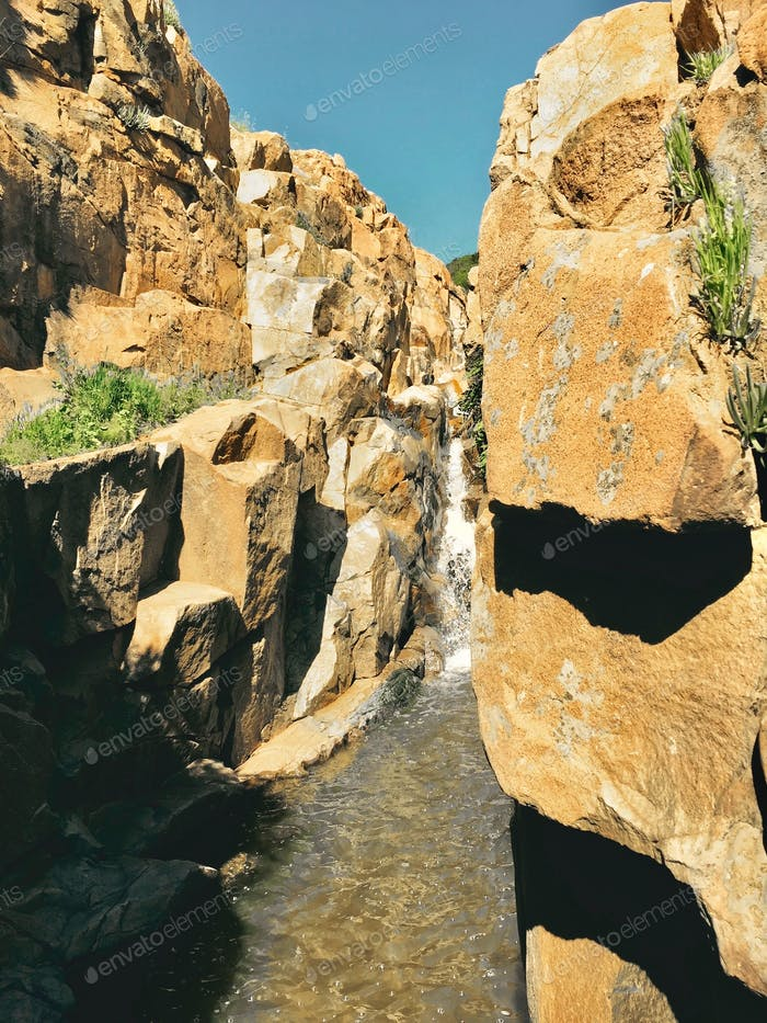 Chasing and finding waterfalls in Mission Trails in San Diego
