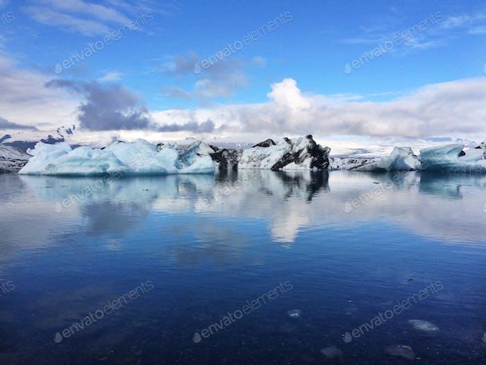 By the glacier lagoon