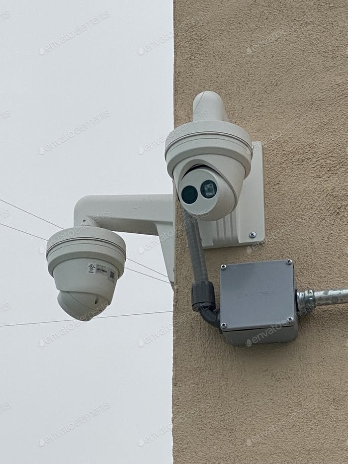 Cameras are installed at a public facility to prevent theft  and ensure security