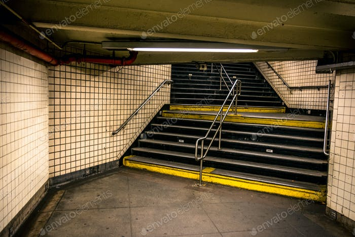 NYC Subway Stairs