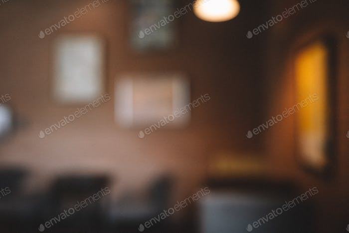 Blurry background of cafe