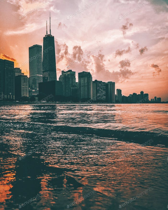 Chicago sunsets