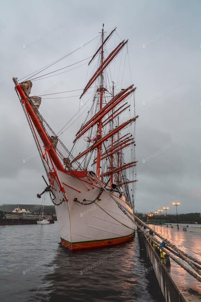 sailboat at the pier