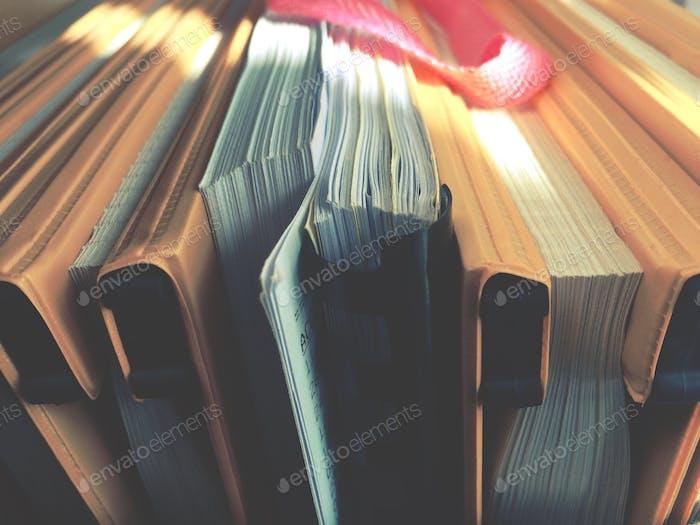 Buchbücher des Kontos