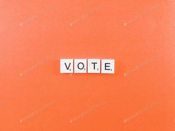 Vote, votes, election
