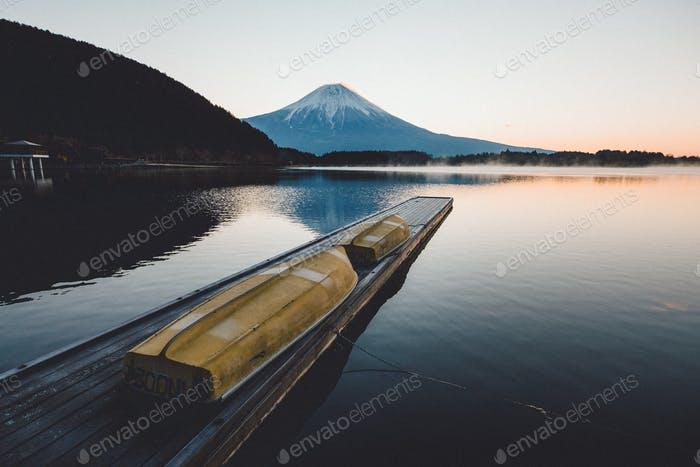 view of fuji mountain in japan